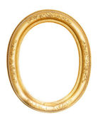 Oval gold frame — Stock Photo