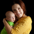 Woman with 1 month baby — Stock Photo #5430556
