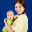 Happy mother with 3 month baby — Stock Photo #5430858