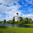 Church of Intercession on River Nerl — Stock Photo #5431426