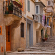Street in old mediterranean town — Stock Photo