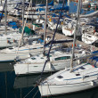 Stock Photo: Many yachts lying at Dockyard Creek