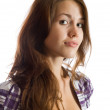 Stock Photo: Brunette long-haired girl