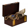 Stock Photo: Treasure chest with jewellery