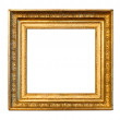 Old gold frame — Foto Stock