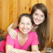 Happy mother with teen daughter — Stock Photo