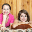 Happy mother with teenager daughter — Stock Photo #5434733