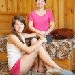 Happy mother with teenager daughter — Stock Photo #5434742