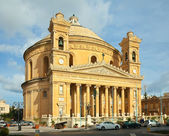 St. Mary church at Mosta. Malta — Stock Photo