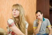 Couple after quarrel — Stock Photo
