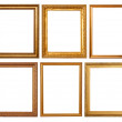 Set of 6 gold frames — Stock Photo #5711787