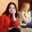 Girls having quarrel at home — Stock Photo