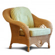 Wattled armchair — Stock Photo