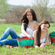 Women relaxing in park — Stock Photo