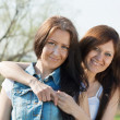 Stock Photo: Two happy women