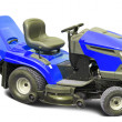 Blue lawn mower - Stock Photo