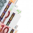 Border from euro banknotes — Stock Photo #5712710