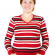 Portrait of woman holding pregnant belly — Stock Photo #5712908
