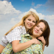 Stock Photo: Two girls together