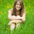 Teenager girl in grass — Stock Photo #5715107