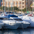 Yachts lying at Marsamxett harbour — Stock Photo
