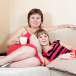 Stock Photo: Women having fun with cups of tea