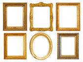 Few Luxury gilded frames — Stock Photo