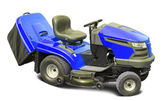 Blue lawn mower — Stock Photo