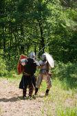 Knights tilting — Stock Photo