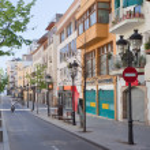 Street in mediterranean town — Stock Photo