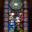 Stained-glass window in church — Stock Photo #5722670