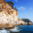 Cliffs at mediterranean  coast — Stock Photo