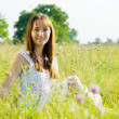 Girl in meadow — Stock Photo #5723366