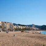 Sand beach in Lloret de Mar — Stock Photo #5723445