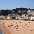 Sand beach in Tossa de Mar - Stock Photo