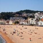 Sand beach in Tossa de Mar — Stock Photo