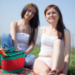 Women relaxing outdoor — Stock Photo