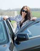 Middle age woman with car — Stock Photo