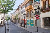 Akdeniz şehirdeki sokak — Stok fotoğraf