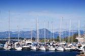 Many yachts lying at dock — Stock Photo