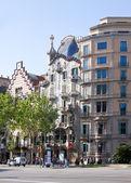 Casa batllo przez gaudiego. barcelona — Zdjęcie stockowe