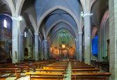 Intérieur de l'église catholique en espagne — Photo