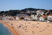 Písečná pláž v tossa de mar — Stock fotografie