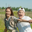 Stock Photo: Happy teenagers