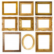 Stock Photo: Set of golden frame