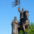 Monument of Vladimir prince at Vladimir — Stock Photo
