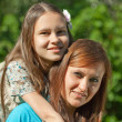 Happy mother with teenager daughter — Stock Photo