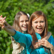 Happy mother with teenager daughter — Stock Photo #6039245