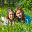 Mother and teenager daughter — Stock Photo
