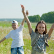 Happy teenager friends together — Stock Photo